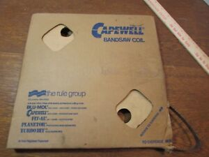 Capewell Coil Metalworking Bandsaw Blade 1 2 Carbon 25 Gauge Tpi 6