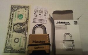 Lot Of 4 New Master Lock 1175rs Proseries Resettable Combination Padlock