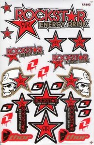New Rockstar Energy Motocross Racing Graphic Stickers Decals 1 Sheet St96
