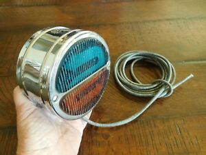 Vintage Accessory Double S Turn Signal Tail Light Lamp Scta Ford Chevy Reo Nos