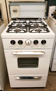 1950s Vintage Sears Kenmore Gas Stove Apartment Size 20 Inch Works Perfectly