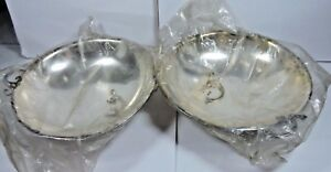 New Defect Antique Carl Cohr Denmark Silverplate Bowl Handles Candy Dish 2971