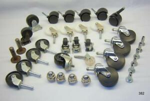 Large Lot Of Casters Grip Neck Sockets