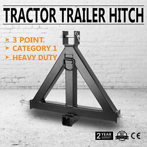 Heavy Duty 3point 2 Receiver Trailer Hitch Category 1 Tractor Tow Hitch Adapter