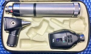 Welch Allyn Otoscope Coaxial Ophthalmoscope Diagnostic Set New Battery