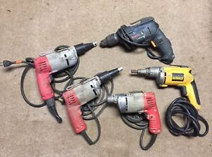 Mixed Lot milwaukee Screw Shooter Dewalt Drywall Screwdriver Bosch Screw Gun