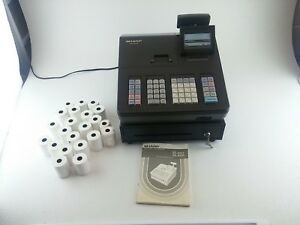 Sharp Xe a23s Cash Management Cash Register Manual 20 Rolls Of Thermal Paper