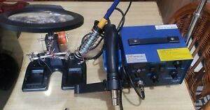 220v Hot Air Gun 2 In 1 Station Saike 852d Soldering Tools Plus Magnifying Set