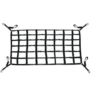 Heavy Duty Cargo Net Bed Pickup Truck With Cam Buckles And S Hooks 66 X 50