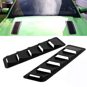 2pcs Abs Car Styling Portable Hood Vent Louver Blinds Air Cooling Panel Bonnet W