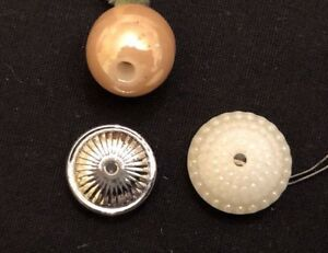 Lot Of 3 Antique China Whistle Buttons 3 8 1 2