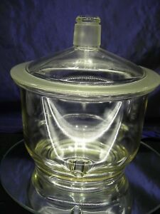 Vintage Large Pyrex Laboratory Desiccator With Lid