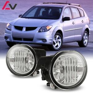 03 08 For Pontiac Vibe Clear Lens Pair Bumper Fog Light Lamp Oe Replacement Dot