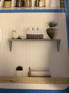 Seville Classics Nsf Solid Stainless Steel Wall Shelf 36 Wide