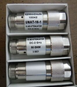 Mini circuits 15542 Unat 16 1 16 Db Attenuator 50 Ohm Dc 2 Ghz 3pcs