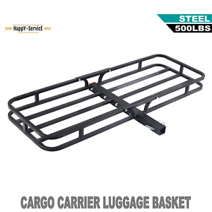 53 x19 Cargo Carrier Luggage Rack Hauler Truck Car Hitch Travel For 2 Receiver