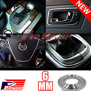 6mm 3m Chrome Molding Trim Interior Exterior Guard Window Side Door Strip Roof P