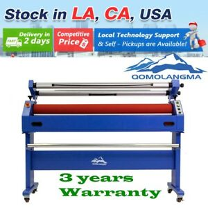 Us Stock 110v Qomolangma 1600mm Wide Format Cold Laminating And Mounting Machine
