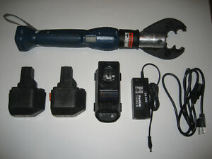 Huskie Quick change Sl nd Crimper With Nd osl Jaw Charger Two Batteries