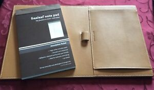 By Levenger Genuine Leather Surf Turf Pad In Tan Morgan Leather New