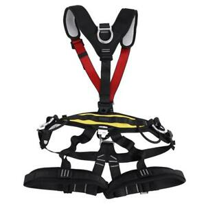 Full Body Harness For Mountaineering Rock Tree Climbing Caving Rescue Abseiling
