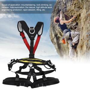 Safety Fall Protection Kit Full Body Harness Shock absorbing Safey Lanyard Belt
