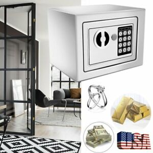 Portable Electronic Security Safe Box Money Jewelry Cash Keypad Passport Us Ma