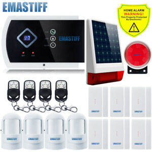 Wireless Outdoor Solar Powered Strobe Home Security Alarm System Quad band