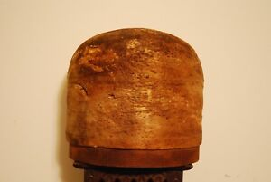 Hat Bowler Dome Crown Mold Balsa Wood W Block 21 1 2 X 6 Used