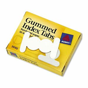 12 Pack avery Gummed Index Tabs 5 8 In White 50 Pack best Price