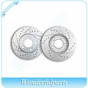 Front Drilled Slotted Brake Discs Rotors Fit 1994 2004 Ford Mustang Base Or Gt