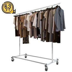 Bigroof Clothing Rack 6 3ft Heavy Duty Clothes Rack Free Standing Garment