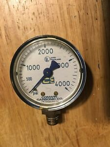 Conwin Carbonic Co High Pressure Gauge Up To 4000 Psi