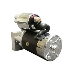 For Chevy Sbc 350 Bbc 454 10 153t 11 168t Mini Muscle 4hp Starter Motor Black