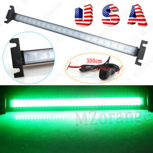 1 Car Windshield 80 Led Strobe Flashing Turn Signal Warning Light Bar Lamp Green