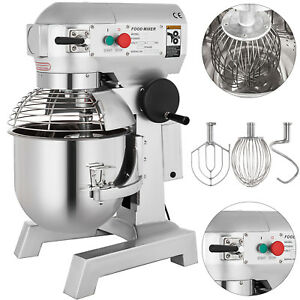 Electric Food Stand Mixer 3 Speed 20qt 1hp Stainless Steel Bowl Mixing Tool