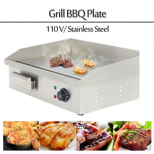 Commercial Countertop Flat Top Plate Stainless Steel Electric Griddle Grill Bbq