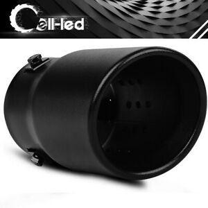 Adjustable 2 3 Inlet Exhaust Tip 3 5 outlet Rolled End Bolt On Stainless Steel