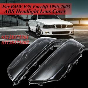 2x For Bmw E39 1996 2006 Front Left Right Headlight Headlamp Lens Shell Cover