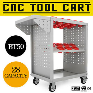 Bt50 Cnc Tool Trolley Cart Holders Toolscoot Super Scoot Steel Mill 28 Capacity