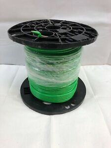 500 or Feet Plastic Spool Green Insulated Solid Copper Ground Wire 6 awg
