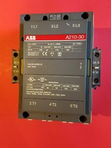 Abb Contactor A210 30 300 Amp 120 Vac Coil With Cal18 11 Cal18 11b