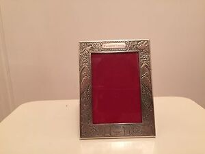 Vintage Sterling Silver Birthday Picture Frame