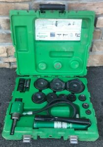Greenlee 7310 Hydraulic Knockout Punch Set 1 2 To 4 7304 7306 nice Shape