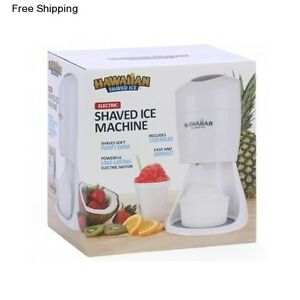 Hawaiian Shaved Ice Maker Electric Ice Crusher Slushie Shaver Snow Cone Machine