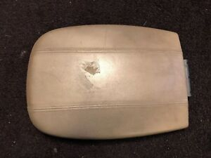 1997 2002 Lincoln Navigator Expedition Center Console Lid Arm Rest Tan Oem