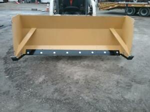 10 Foot Hd Skid Steer Snow Pusher Box 120 Plow Steel Blade Bobcat Cat Case Il