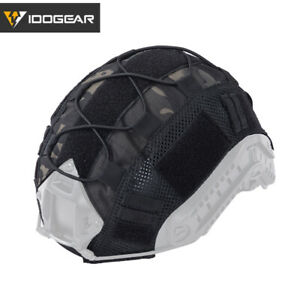 IDOGEAR Tactical Camo Helmet Cover For FAST Helmet V1 Headwear Airsoft Military