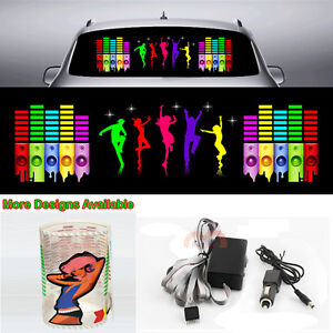 Hyun Dance Music Rhythm Car Sticker Flash Light Sound Activated Equalizer 90 25