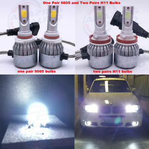 New 6x 9005 H11 Led 6000k White Headlight Conversion Kit High Low Beam Fog Light